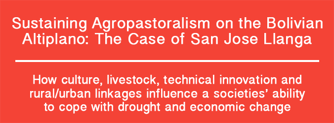Sustaining Agropastoralism on the Bolivian Altiplano: The Case of San José Llanga