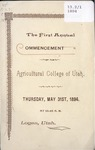 Utah State University Commencement, 1894 – Main Campus by Utah State University
