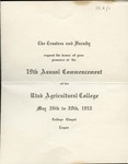 Utah State University Commencement, 1912 – Main Campus