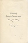 Utah State University Commencement, 1913