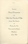 Utah State University Commencement, 1936