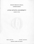 Utah State University Commencement, 1970
