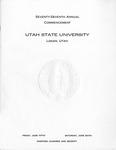 Utah State University Commencement, 1970