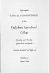 Utah State University Commencement, 1951