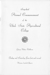 Utah State University Commencement, 1956