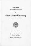 Utah State University Commencement, 1957