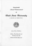 Utah State University Commencement, 1957