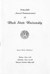 Utah State University Commencement, 1958