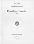 Utah State University Commencement, 1961