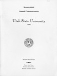 Utah State University Commencement, 1966