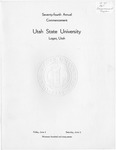 Utah State University Commencement, 1967