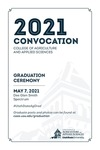 Utah State University Commencement, 2021 – College of Agriculture and Applied Sciences Convocation