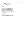 B.E. Club Lab Tour | Biological Engineering