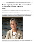 Dean of Engineering Receives Utah Governor's Medal for Excellence | College of Engineering