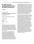 Dr. Allan Guymon Undergraduate Seminar   Biological Engineering by USU College of Engineering