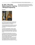 Dr. Britt - Wins 2015 Robins Award for Teaching | Biological Engineering
