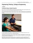 Engineering Thinking | College of Engineering
