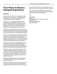 From Plants to Bacteria   Biological Engineering by USU College of Engineering