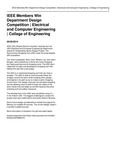 IEEE Members Win Department Design Competition   Electrical and Computer Engineering   College of Engineering