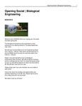 Opening Social   Biological Engineering