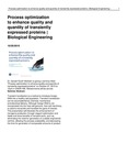 Process Optimization to Enhance Quality and Quantity of Transiently Expressed Proteins | Biological Engineering