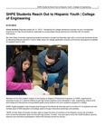SHPE Students Reach Out to Hispanic Youth | College of Engineering