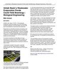 Uintah Basin's Wastewater Evaporation Ponds Could Yield Bioenergy | Biological Engineering