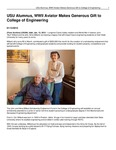 USU Alumnus, WWII Aviator Makes Generous Gift to College of Engineering