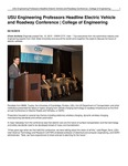 USU Engineering Professors Headline Electric Vehicle and Roadway Conference | College of Engineering