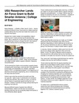 USU Researcher Lands Air Force Grant to Build Smarter Antenna | College of Engineering