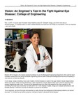 Vision: An Engineer's Tool in the Fight Against Eye Disease | College of Engineering
