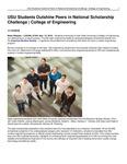 USU Students Outshine Peers in National Scholarship Challenge   College of Engineering by USU College of Engineering