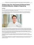 Thinking Like a Pro: How Experts and Novices Solve Problems Differently | College of Engineering