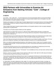 """DEQ Partners with Universities to Examine Air Emissions from Starting Vehicles """"Cold""""   College of Engineering"""