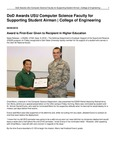 DoD Awards USU Computer Science Faculty for Supporting Student Airman | College of Engineering
