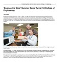 'Engineering State' Summer Camp Turns 25 | College of Engineering
