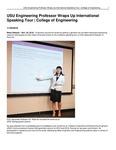 USU Engineering Professor Wraps Up International Speaking Tour | College of Engineering