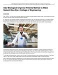 USU Biological Engineer Patents Method to Make Natural Blue Dye | College of Engineering