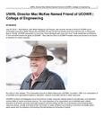 UWRL Director Mac McKee Named Friend of UCOWR | College of Engineering