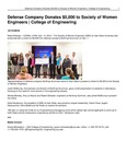 Defense Company Donates $5,000 to Society of Women Engineers | College of Engineering
