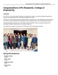 Congratulations A-Pin Recipients | College of Engineering