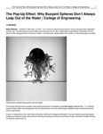 The Pop-Up Effect: Why Buoyant Spheres Don't Always Leap Out of the Water | College of Engineering