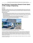 New Electrified Transportation Research Center Opens at USU | College of Engineering