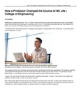 How a Professor Changed the Course of My Life   College of Engineering by USU College of Engineering