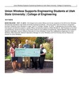 Union Wireless Supports Engineering Students at Utah State University | College of Engineering