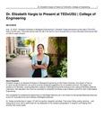 Dr. Elizabeth Vargis to Present at TEDxUSU | College of Engineering
