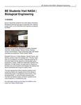 BE Students Visit NASA | Biological Engineering