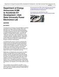 Department of Energy Announces $18M to Accelerate EV Development | Utah State University Power Electronics Lab