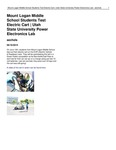 Mount Logan Middle School Students Test Electric Cart | Utah State University Power Electronics Lab