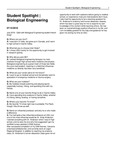 Student Spotlight   Biological Engineering